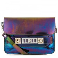PS11 glossed leather satchel