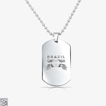 Brazil Soccer Team, Fifa World Cup Tag Necklace