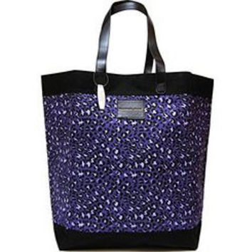 Victoria's Secret Purple Leopard Print Tote Bag