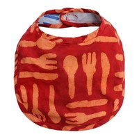 Fair Trade Orange Silverware Batik Bib