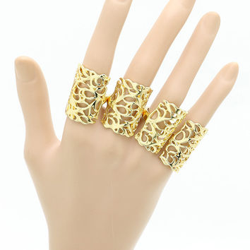 Gold Knuckles Ring Set