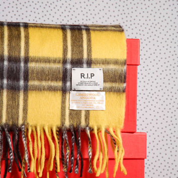 Azy Check Scarf in Lampswool