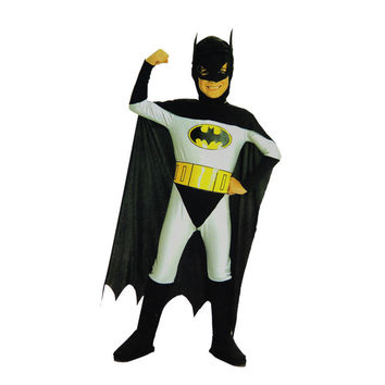 Halloween Costume for Kids Bat Hero Cosplay Masquerade Party Role Play Boy Clothing outfit