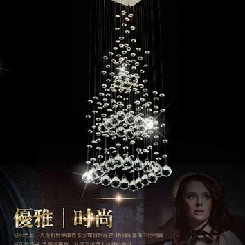 modern Square led Crystal Chandelier square Pyramid Design Crystal lamps LED Bedroom ceiling Light 100% Guaranteed