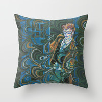 Dr. Who Throw Pillow by Alex Bayliss