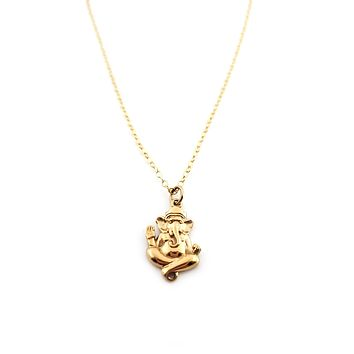 Ganesh Charm - 14k Gold Filled Necklace Simple Jewelry - Gift for Her