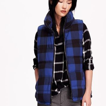 Old Navy Womens Plaid Frost Free Vest