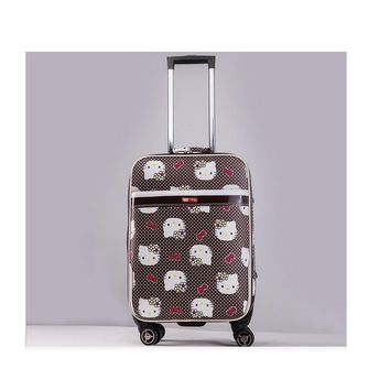 NEW 20 inch Hello kitty Spinner travel Luggage suitcase sets kids student women trolleys rolling luggage EMS/DHL free shipping