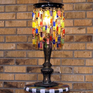 Romantic Whimsical Gypsy Boho Table Lamp One Of A Kind -