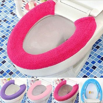 All Type Warm Soft Toilet Cover Seat Lid Pad Bathroom Closestool Protector