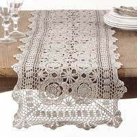 Aberdeen Grey Crochet Table Runners