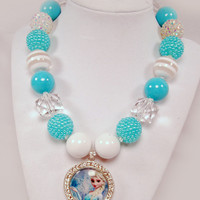Elsa Chunky Beaded Necklace Frozen Boutique Jewelry