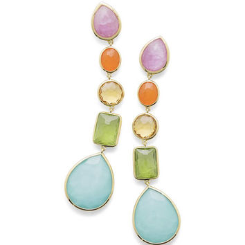 Ippolita 18K Rock Candy® 5-Stone Linear Earrings in Rainbow