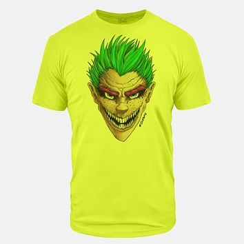 Green Grin Neon Yellow Tri-Blend T-Shirt