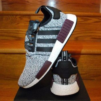 LMFUX5 Adidas NMD R1 Champs Exclusive Grey Burgundy BA7841 Boost Sport Running Shoes Classic Casual Shoes Sneakers