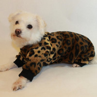 RockinDogs Leopard Fleece Dog Pajamas