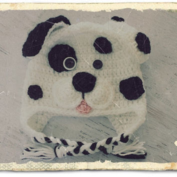 Crochet Dalmatian Dog Plus Sizes (Baby, Toddler, Child, Adult) Hat