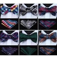 Men's Assorted Bow Ties & Handkerchiefs Collection - Multiple Styles