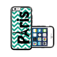 RCGrafix Brand Paris emrald green Chevron black iPhone 6 Case - Fits NEW Apple iPhone 6