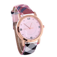 Womens Fashion Leather Watch Girls Fashion Casual Watches Best Gift