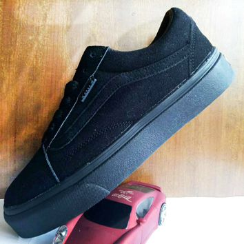 Vans Old School Full Black Classic Leisure Plate shoes B-A-HYSM