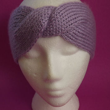 Knitted Headband - Knitted Ear Warmer - Knitted Twisted Headband - Knit Turban Headband