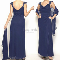 Single Layer Chiffon Wedding/Bridesmaid Dress/Evening Shawl Bridal Shawl (SL001)