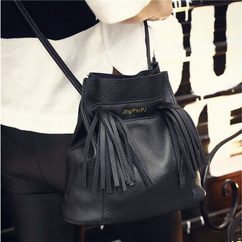 Women Bag Shoulder Crossbody Bags Faux Leather Tote Purse Messenger Satchel Bucket Bag bolsa feminina INY66