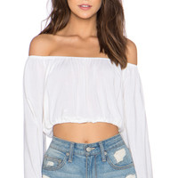 Cabo Top in Plain White