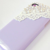 Lavender Sweet Lolita Lace iPhone 4 Case