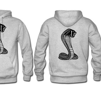 mustang cobra hoodie cobra sweatshirt ford hoodie print on sleeve back and front