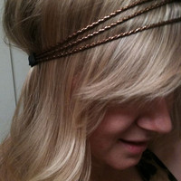 Triple strand elastic copper braided woven hipster by emmaflhair