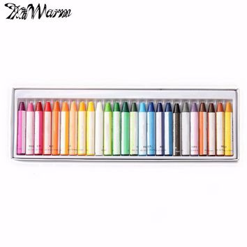 KiWarm 25 Colors Wax Crayon Oil Painting Stick Pastel Crayon Painting for Children School Office Art Supplies Stationery Gift