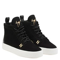 Giuseppe Zanotti Gz Gordon High Black Suede High-top Sneaker