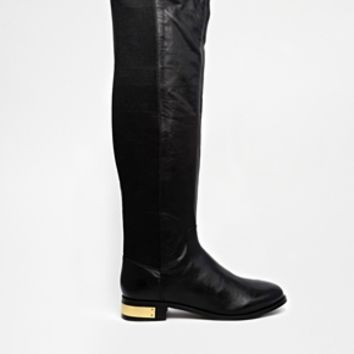 Carvela Pacific Leather Knee High Boots - Black