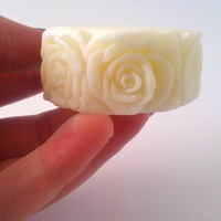 Vanilla Sandalwood Lotion Bar, Natural Massage Bar, Nut Free