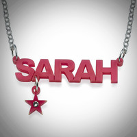 Acrylic Personalized Charm Necklace