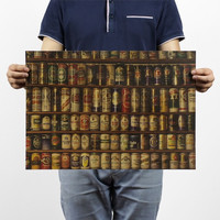 Vintage Style Paper Poster Retro Wall Stickers Beer Figure J&Y Decoration paper poster 51x35cm