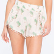 OTHERS FOLLOW Tropical Print Womens Shorts   Shorts