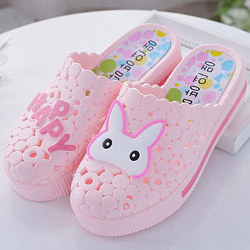women shoes woman garden shoes spring/summer EVA female beach mules shoes mujer Cute Cartoon Slip Thick bottom slippers 16