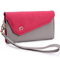 Grey / Hot Pink Two-tone Clutch fits Apple iPhone 4 & 4S (Fits 16GB 32GB 64GB) Mobile