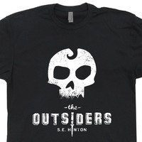 The Outsiders T Shirt Cool Book Shirts Literary Geek T Shirts Stay Gold Ponyboy