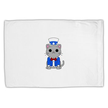 Patriotic Cat Standard Size Polyester Pillow Case by TooLoud