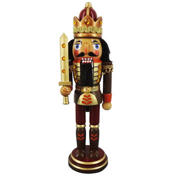 "10"" Nutcracker Copper, Gold, and Burgundy N1025"