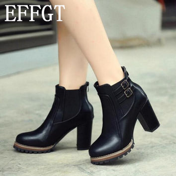 Faux Leather short Boots Designer Martin boots
