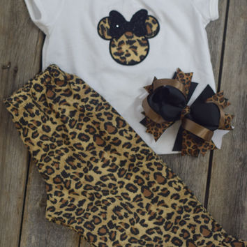 Minnie Mouse Outfit by Mandy Lou {Cheetah/White}