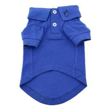 Solid Nautical Blue Dog Polo Shirt