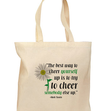 Cheer Yourself Up Mark Twain Grocery Tote Bag - Natural