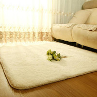 Carpets For Living Room Shaggy Ivory Wool Rug Anti-skid Carpet Floor Bedroom Soft Mat Carpets Kids Room Home#ZH183