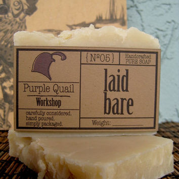 Laid Bare - Handmade Unscented Uncolored Vegan Hot Process Soap